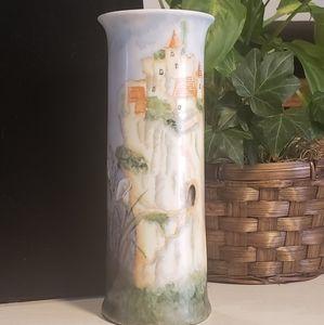 Vintage Accents - Vintage O &E.G Austria Fairy Vase artist signed